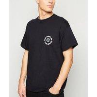 Black Oversized Utopia Slogan T-Shirt New Look