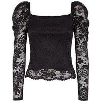 Carpe Diem Black Lace Milkmaid Top New Look