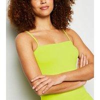 Noisy May Yellow Neon Stretch Bodycon Mini Dress New Look