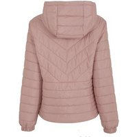 Pale Pink Hooded Puffer Jacket New Look