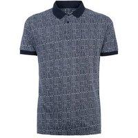 Bellfield Navy Jacquard Polo Shirt New Look