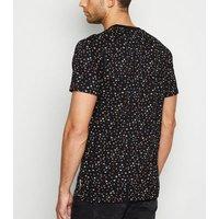 Mens Bellfield Black Star Print T-Shirt New Look