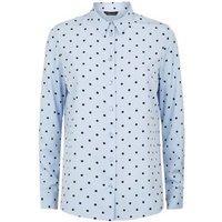 Blue Spot Long Sleeve Shirt New Look