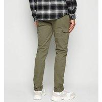 Mens Bellfield Khaki Cargo Trousers New Look