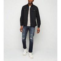 Indigo Ripped Slim Jeans New Look