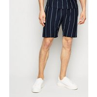 Navy Vertical Stripe Shorts New Look