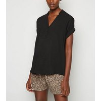 Maternity Brown Leopard Print Shorts New Look