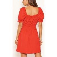 AX-Paris-Red-Square-Neck-Milkmaid-Dress-New-Look