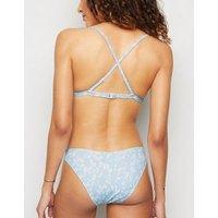 Blue Spot V Front Bikini Bottoms New Look