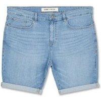 Plus Size Pale Blue Denim Shorts New Look