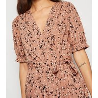 Pink-Ditsy-Floral-Puff-Sleeve-Mini-Dress-New-Look