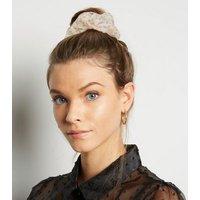 Cream Floral Organza Scrunchie New Look
