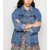 Blue Oversized Denim Jacket New Look