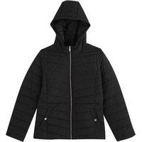 Girls Black Hooded Puffer Jacket New Look