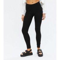 2 Pack Black Jersey Leggings New Look