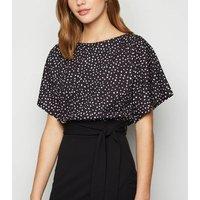 Black Spot 2 in 1 Tie Waist Dress New Look