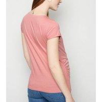 Maternity Mid Pink Short Sleeve T-Shirt New Look