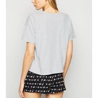 Light Grey Friends Skyline Logo Pyjama Set New Look