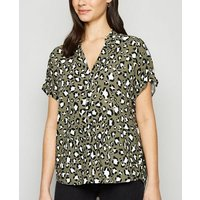 Green Animal Print Overhead Shirt New Look