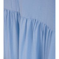 Curves Pale Blue Mini Smock Dress New Look