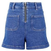 Girls Bright Blue Ring Pull Shorts New Look