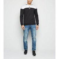 Only & Sons Black Half Zip Sweatshirt New Look