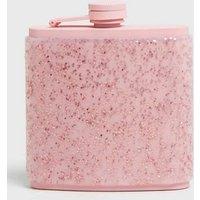 Multicoloured Glitter Hip Flask New Look
