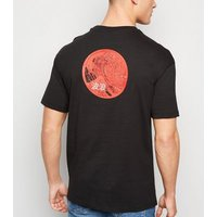 Only & Sons Black Dragon Print T-Shirt New Look