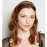 2 Pack Multicoloured Pastel Diamante Headbands New Look