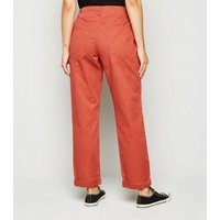 JDY Red Elasticated Waist Jeans New Look
