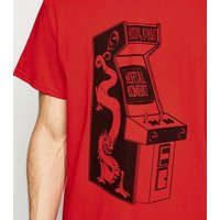 Red Mortal Kombat Arcade Oversized T-Shirt New Look