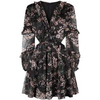 AX Paris Black Floral Chiffon Cut Out Dress New Look