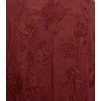 Rust Floral Embroidered Kimono New Look