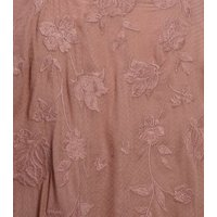 Pale Pink Floral Embroidered Kimono New Look