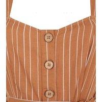 Tall Rust Stripe Crop Jumpsuit New Look