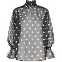 AX Paris Black Chiffon Polka Dot Blouse New Look