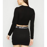 Pink Vanilla Black Slogan Mini Skirt New Look