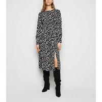 Influence-Black-Spot-Long-Sleeve-Midi-Dress-New-Look