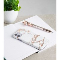 Rose Gold Marble Effect Case for iPhone 11/XR New Look