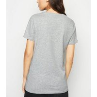 Grey Marl Short Sleeve Crew T-Shirt New Look