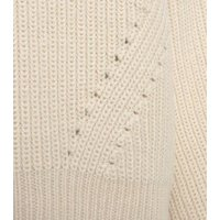 Off White Pointelle Knit Jumper New Look