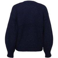 Navy Pointelle Knit Jumper New Look