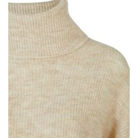 Cream Slouchy Roll Neck Jumper New Look