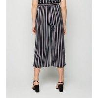Girls Blue Stripe Scuba Culottes New Look