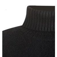 Black Boxy Roll Neck Jumper New Look