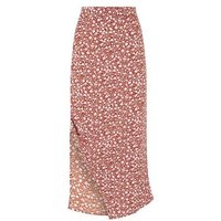 Urban Bliss Brown Ditsy Floral Midi Skirt New Look