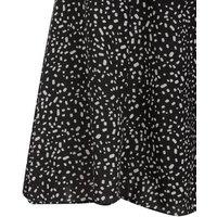 Black Confetti Print Flippy Shorts New Look