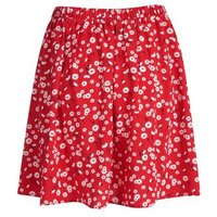 Red-Daisy-Print-Button-Mini-Skirt-New-Look