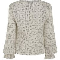 White Spot Square Neck Blouse New Look