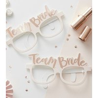 Ginger Ray 8 Pack Rose Gold Team Bride Glasses New Look